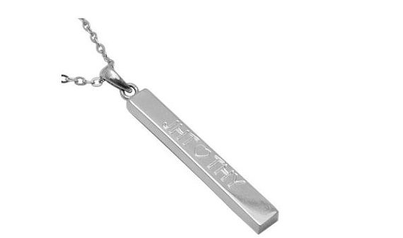 Sterling Silver Bar Pendant  Personalised by madetoinspire on Etsy, $49.00