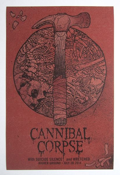 GigPosters.com - Cannibal Corpse - Suicide Silence - Wretched