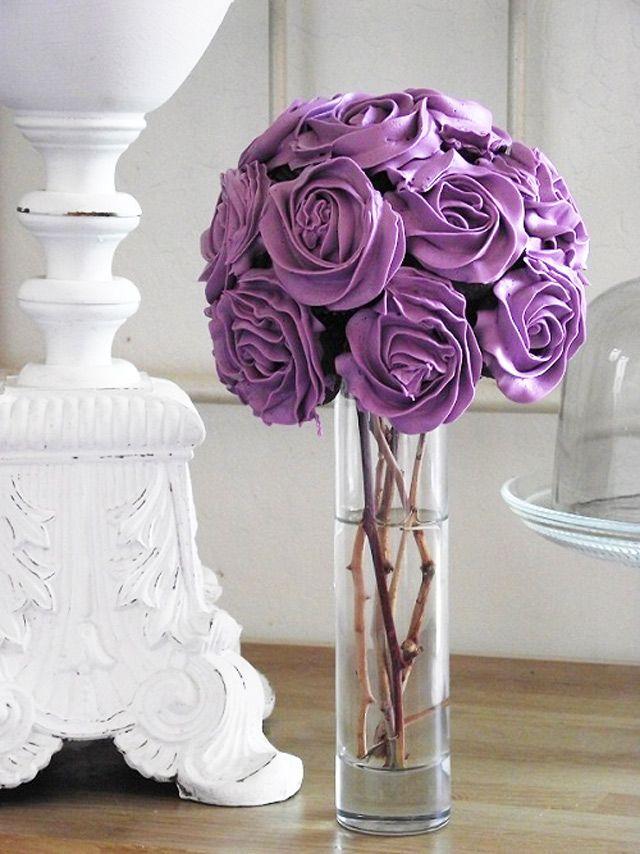 Centros de mesa-- Bouquet de Cupcakes paso a paso - Foro ...