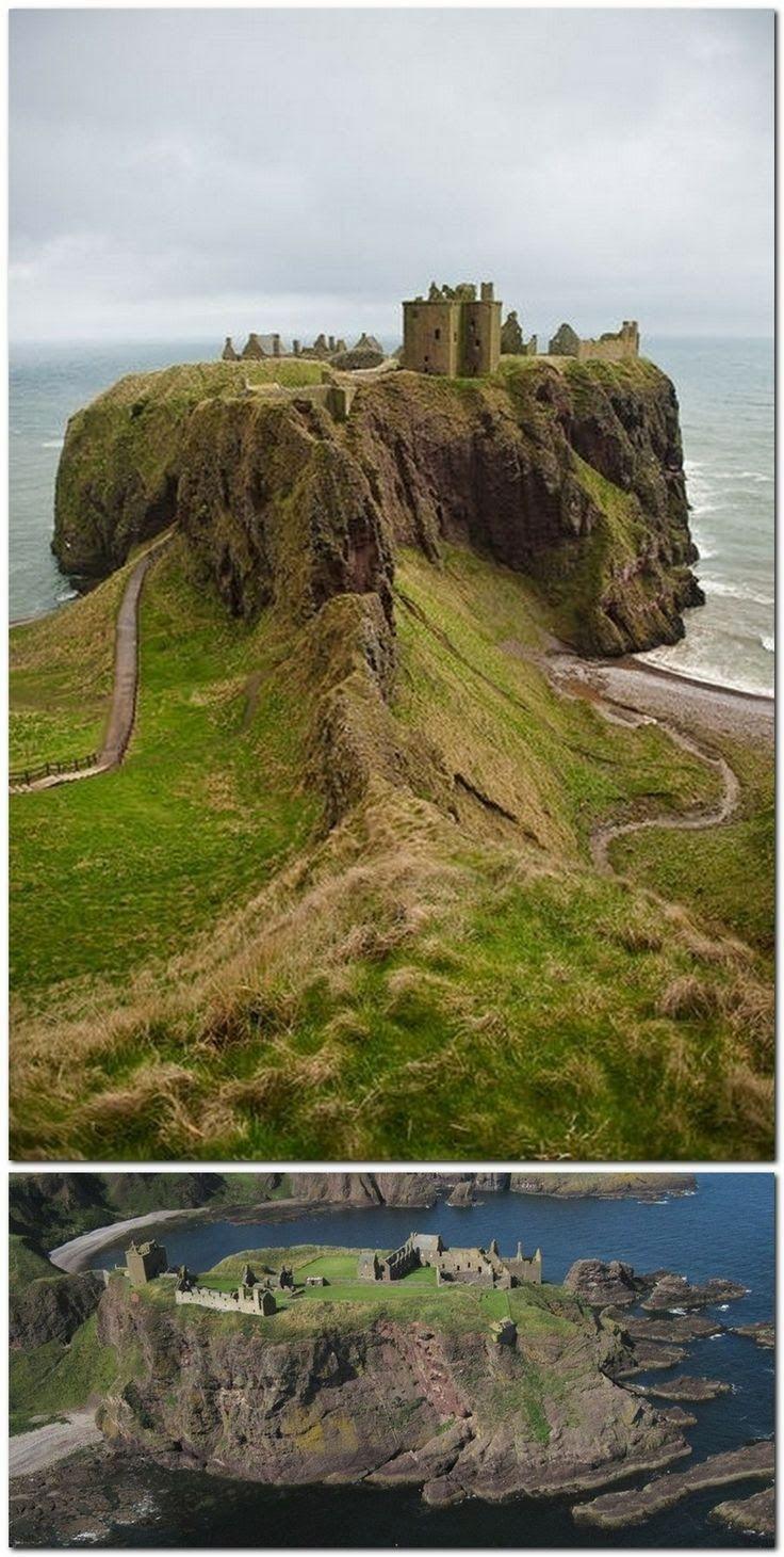 Dunnottar Castle, Scotland, Dunnottar Castle, Stonehaven, Scotland - part of Braveheart was filmed here. And, Hamlet with Mel Gibson.