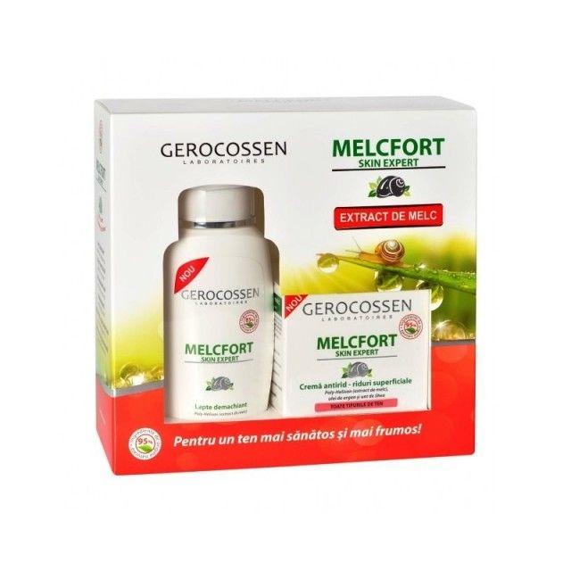 Set Cadou Melcfort Cremă Riduri Superficiale 35 ml + Lapte Demachiant 130 ml Gratis, Pentru un ten mai sănătos și mai frumos!