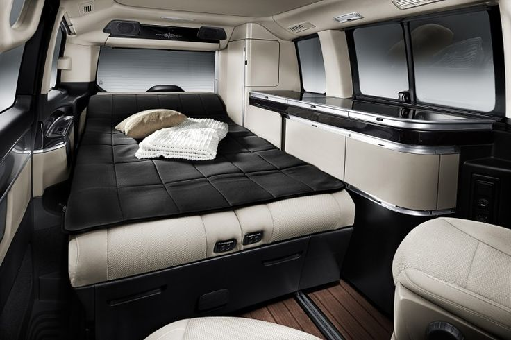 The rear seats fold into single- and double-bed configurations