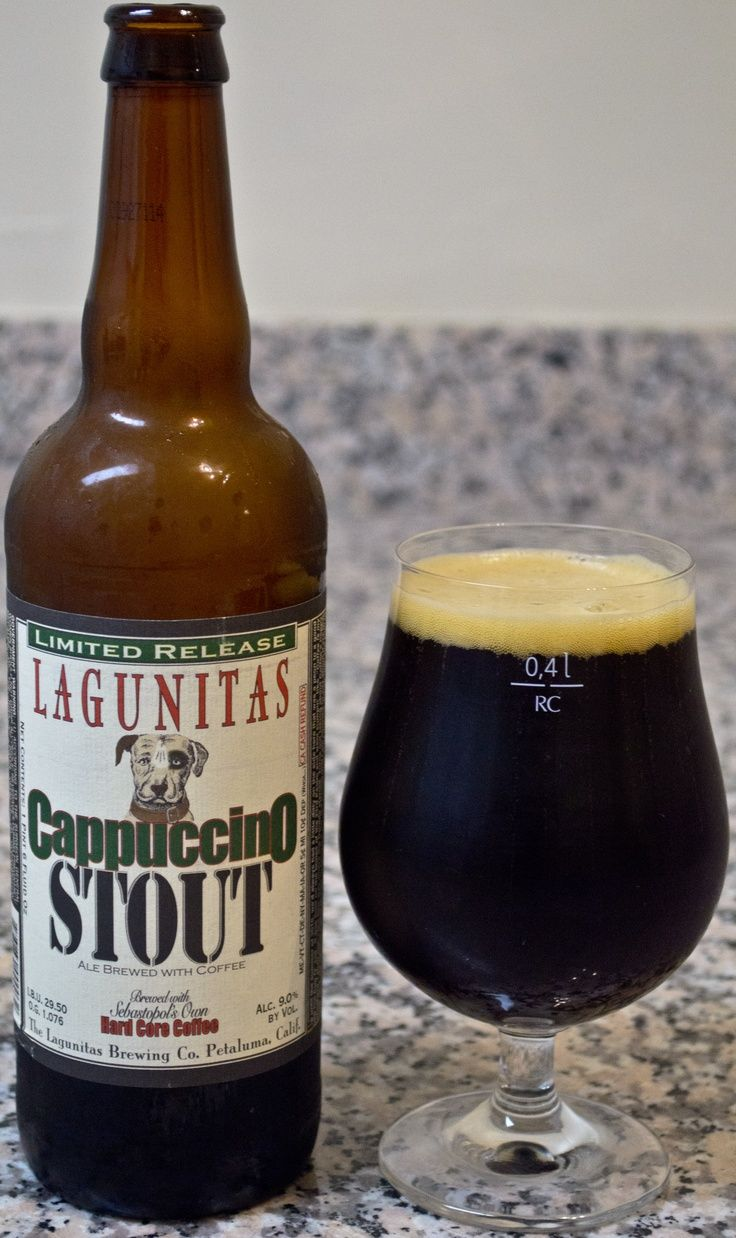 Lagunitas' Cappuccino Stout - This #beer is very much the perfect hybrid of coffee and stout, maybe even a bit too much coffee, but I do like extremes. There is a ton of coffee that really comes through strong throughout the beer and really blends with the rest of the flavors very nicely. I especially like how the coffee really lingers on the tongue for a while.