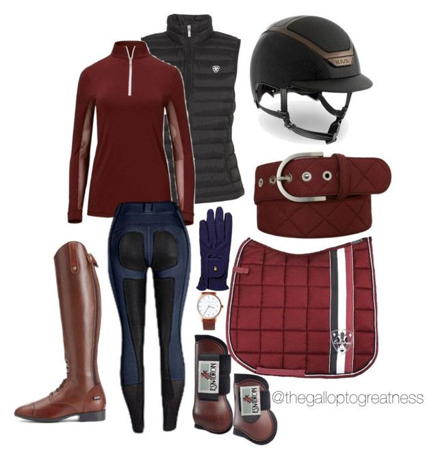 """Maroon in March"" by thegalloptogreatness on Polyvore featuring Ariat, Kask and The Horse"