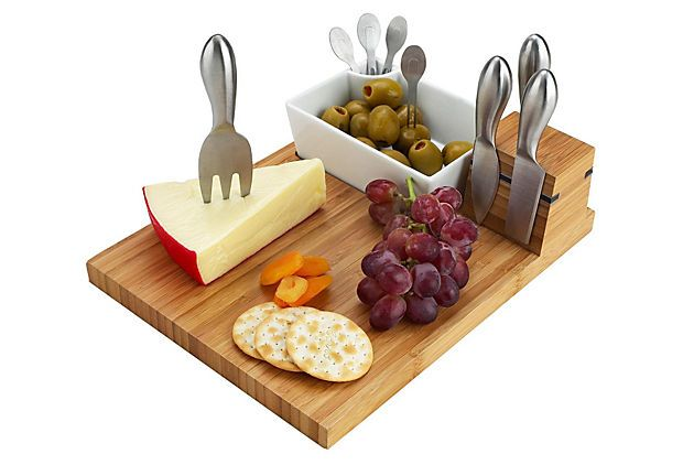 Buxton Cheese Board Serving Set, Bamboo on OneKingsLane.com