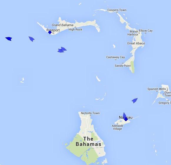 The Bahamas Cruise Ship Tracker tracks cruise ships at sea near Bahamas,  Track cruise ships at Nassau, Bahamas, Freeport, Bahamas, Coco Cay, Bahamas, Half Moon, Bahamas,  Little Stirrup, Bahamas, Castaway Cay, Bahamas.