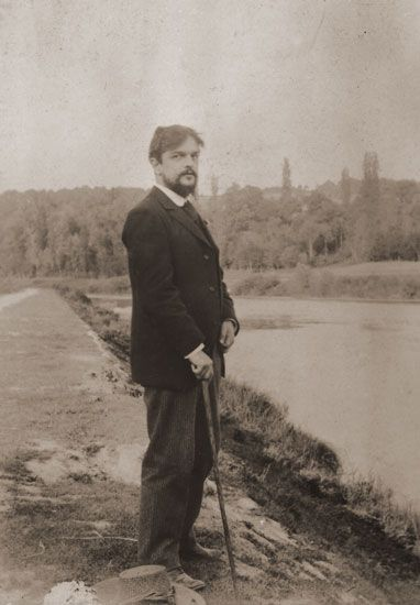 Debussy on the banks of the River Marne, near Luzancy in June 1893, whilst staying with composer Ernest Chausson