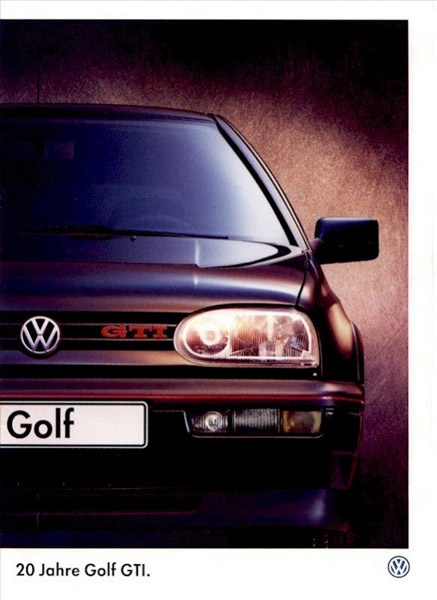 VW Golf (Mk3) 20th Anniversary GTI with the iconic bumper three piece light setup.