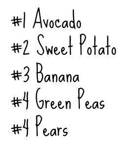 Top 5 best food to start baby on !!!