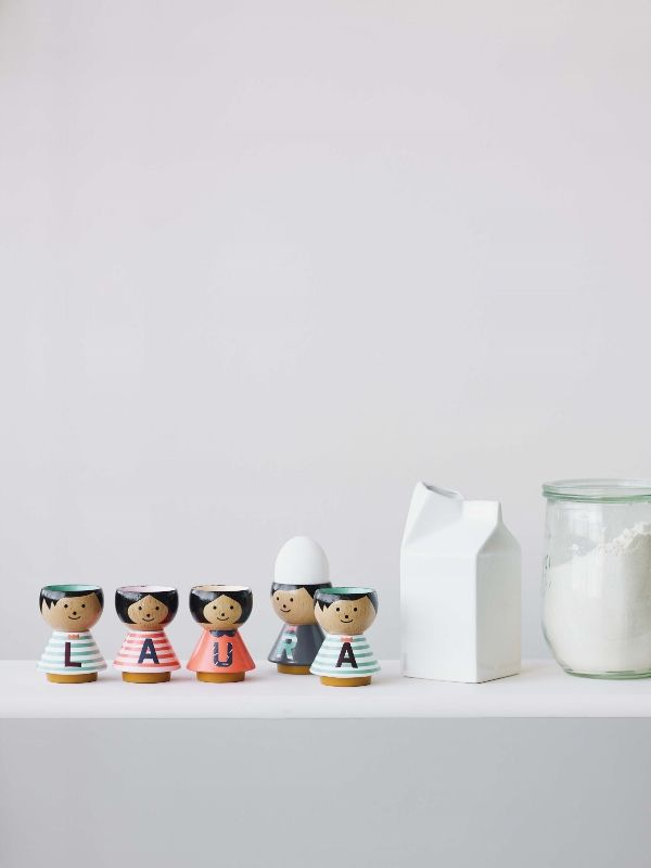 Latest edition to the Bordfolk range A-Z eggcups. Add some fun to your table! #luciekaas #eggcups