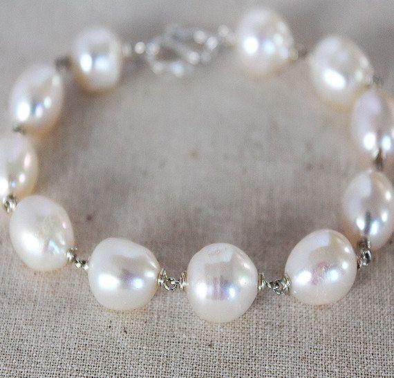 White Baroque Pearl Bridal Jewelry Set  White Pearl by karioi, $205.00 http://etsy.com/shop/karioi