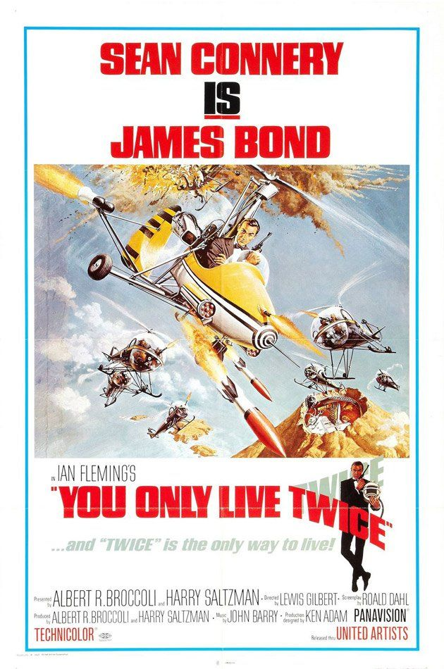 You Only Live Twice (1967) GB United Artists Action D: Lewis Gilbert. Sean Connery, Donald Peasance, Karin Dor, Bernard Lee, Charles Gray. 16/02/2009