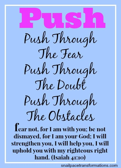 My Word For 2014: PUSH. Scripture ArtBible ScripturesMotivational Fitness  QuotesMotivational ...