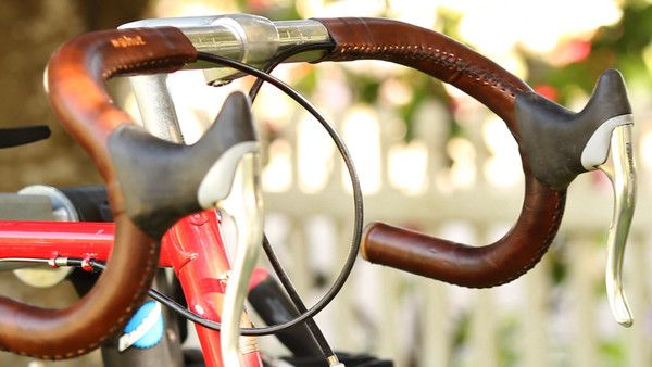 Sew-on Leather Bicycle Handlebar Tape Wraps | Leather handlebar tape & bicycle accessories | Walnut Studiolo