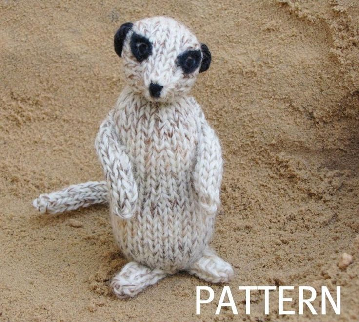 Animal Knitting Patterns Free : Meerkat Pattern Free pattern, Knitting patterns and Animals