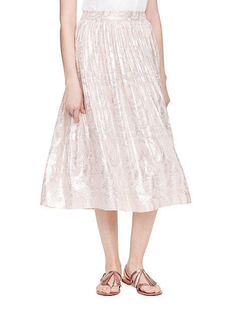 fern clipped chiffon skirt - Kate Spade New York
