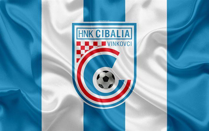 Descargar fondos de pantalla HNK Cibalia, 4k, croata de fútbol del club, emblema, logo, futbol americano, bandera, HNL, croata Primera Liga de Fútbol, Vinkovci, Croacia, Cibalia FC