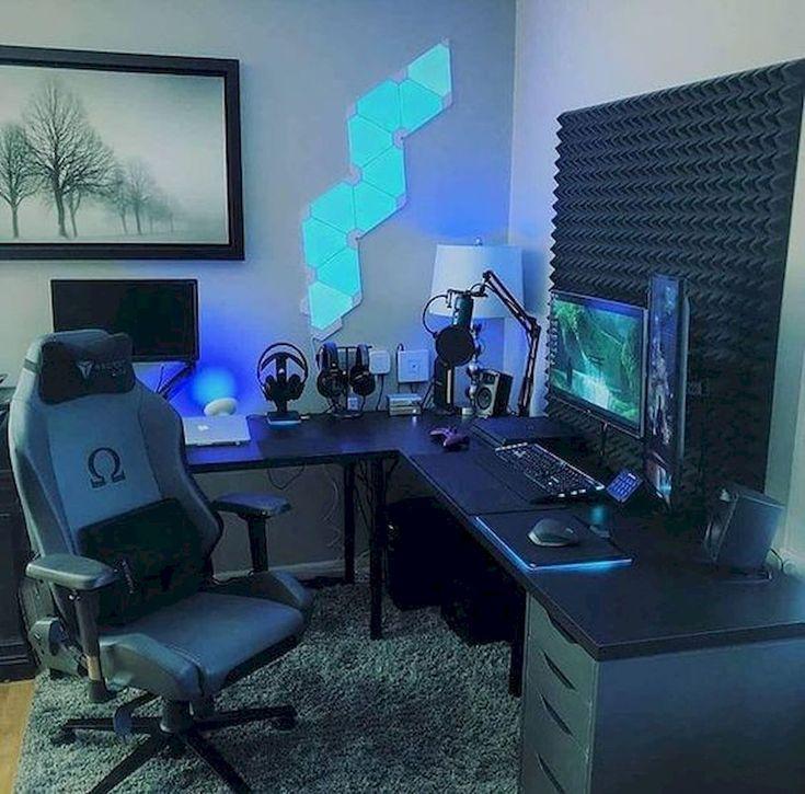 45 Fantastic Computer Gaming Room Decor Ideas and Design #computer #design #fantastic #gaming # Ideas