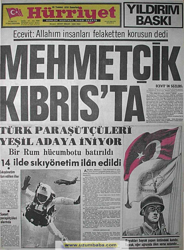 Hürriyet gazetesi 20 temmuz 1974