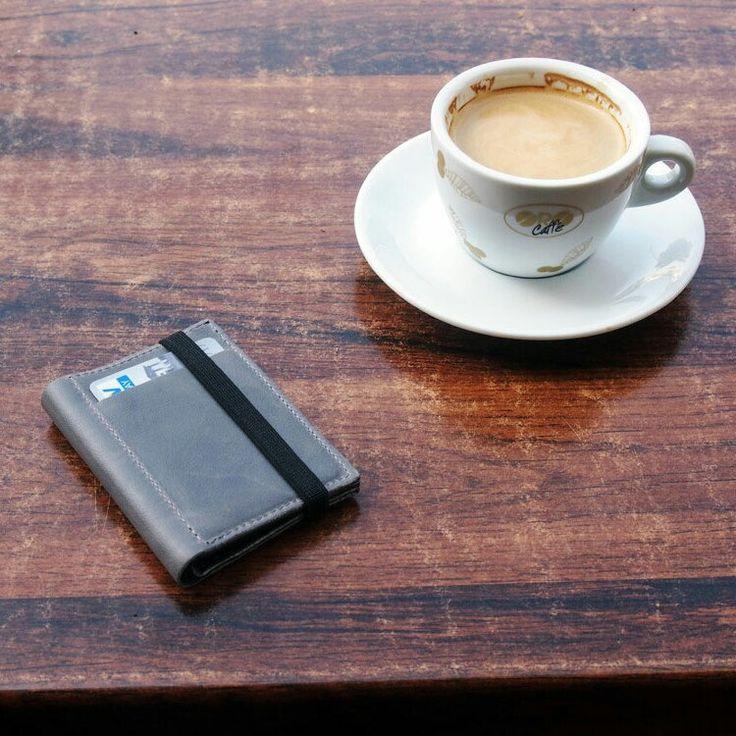 Start of the day, drinking a coffee and taking a shot :)  #gazur #wallet #mensleatherwallet #leatherwallet #mensgift #husbandgift #mensslimwallets #menswallets #mensleatherwallet
