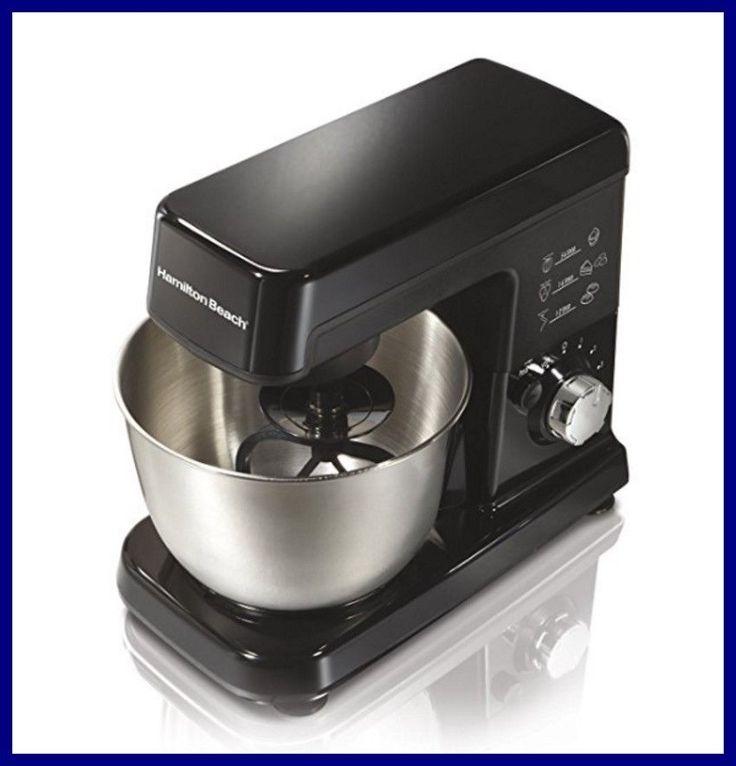 Mixer 4 Quart Kitchen Aid Tilt Head Stand 6 Speed Bowl Dough Hook Whisk Beater #HamiltonBeach