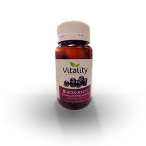 Each Vitality Blackcurrant capsule contains 100mgs of Anthocyanins - powerful antioxidants with strong anti-inflammatory properties.