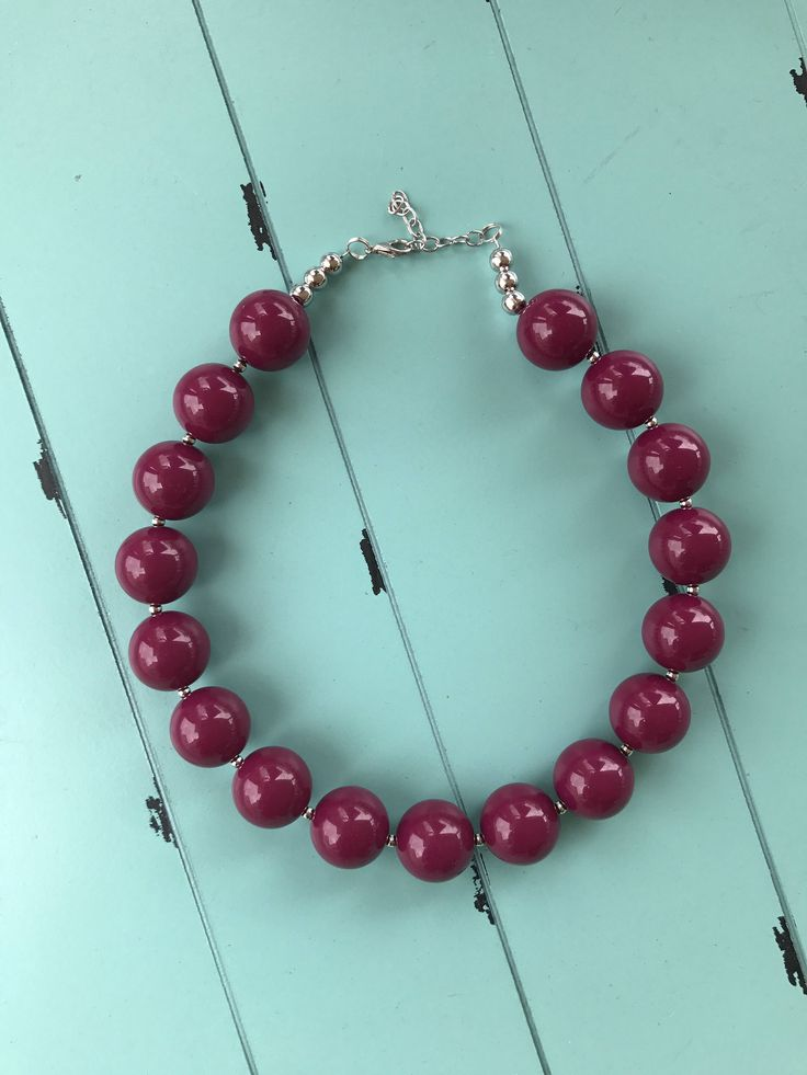 A personal favorite from my Etsy shop https://www.etsy.com/listing/547279953/bubblegum-bead-necklace-chunky-bead