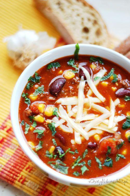 Zupa meksykańska. Zupa meksykańska z mięsa mielonego.  Jak zrobić zupę meksykańską.