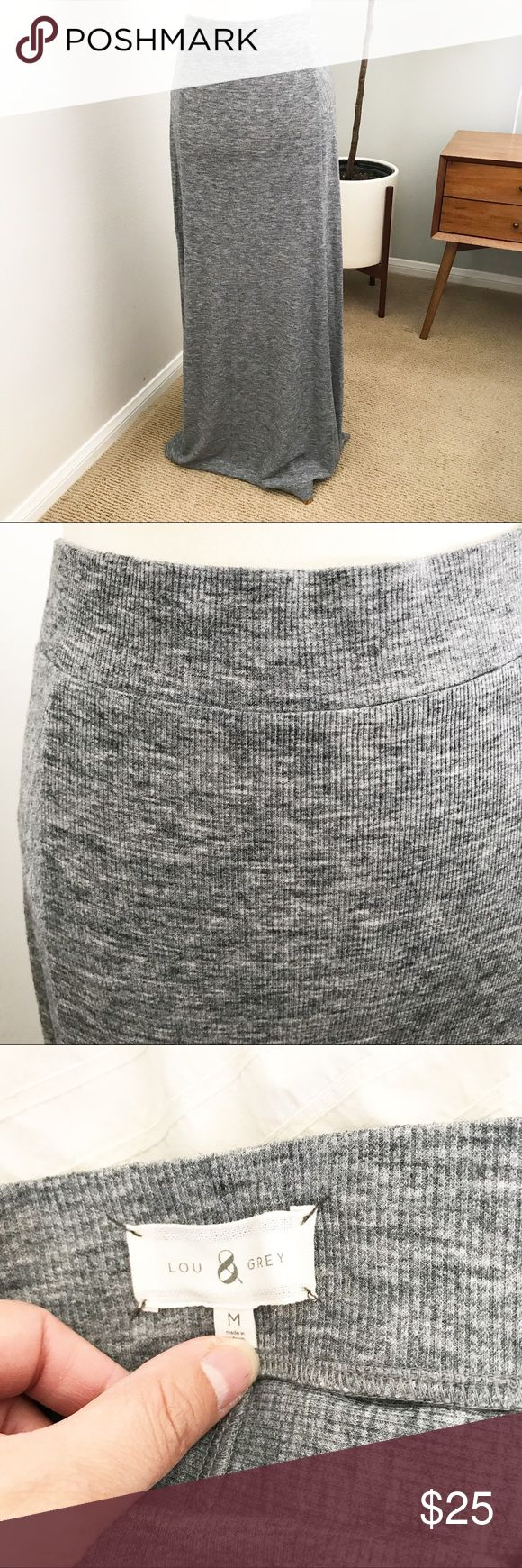Lou & Grey micro stripe Maxi skirt size M Lou & Grey micro stripe Maxi skirt size M. Perfect for any casual occasion. Long float great for beach wear. Bundle and save ! Lou & Grey Skirts Maxi