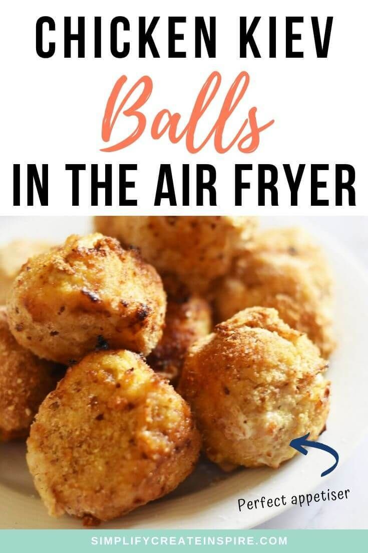 Chicken kiev balls recipe air fryer or shallow fry