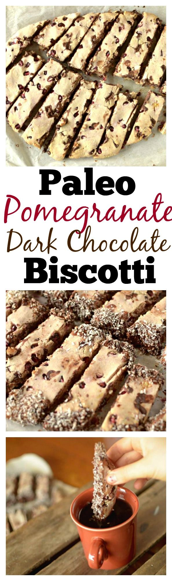 Looking for a healthy but tasty holiday cookie this season? Try these grain-free Pomegranate and Dark Chocolate Biscotti with a paleo and vegan option!