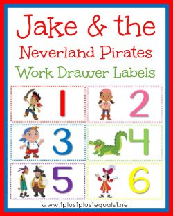 1+1+1=1...Work Drawer Labels to make a child's work flow more fun!