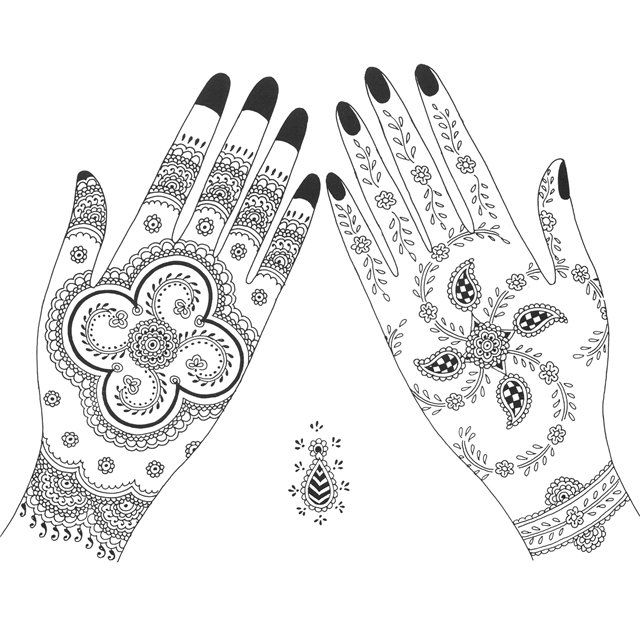 Geometrical pattern for African Mehndi