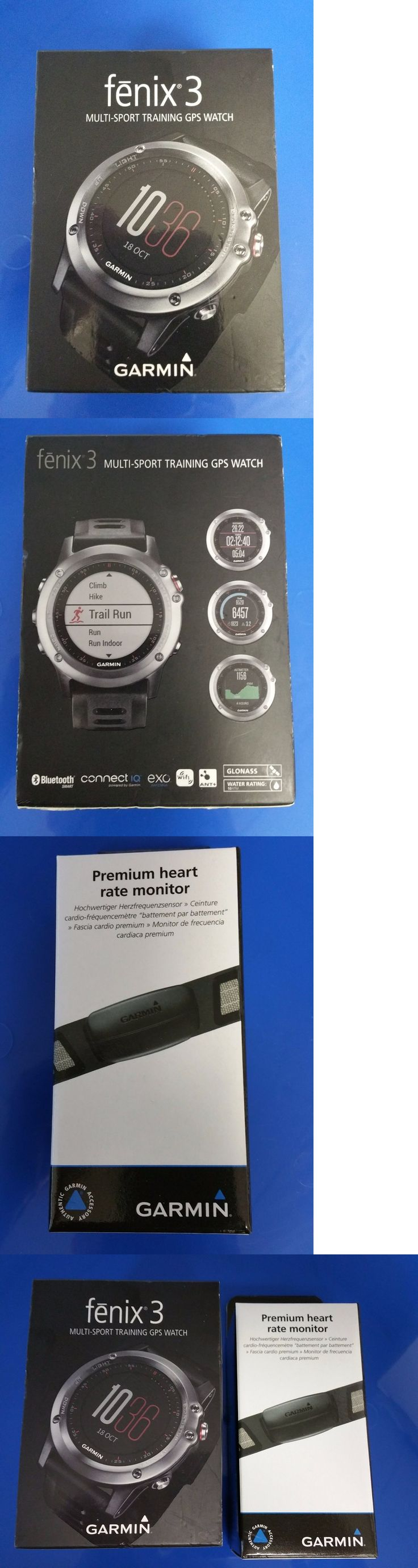 GPS and Running Watches 75230: Garmin Fenix 3 Outdoor Fitness Gps Watch Gray With Black Band Hrm Run Bundle New -> BUY IT NOW ONLY: $369.95 on eBay!
