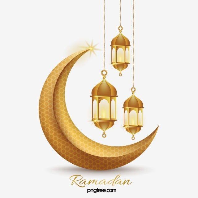 Three Dimensional Texture Golden Ramadan Lantern Moon L Effect Decoration Ramadan Moon Muslim Png And Vector With Transparent Background For Free Download Di 2020 Desain Dan Mengagumkan