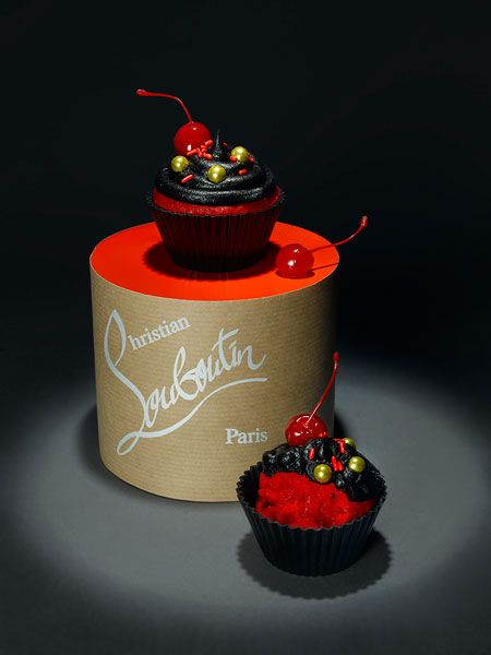 Christian Louboutin. Fashion cupcakes prop-styled by Lisa Edsalv and shot by photographer Therese Aldgard.