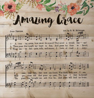 "Amazing Grace Music, Lath Wall Art P Graham Dunn Inc. / 2016 / Gift Retail $20.00 plus shipping and handling Product Description - Amazing Grace Music - 11.5"" x 12"" - Lath with hanger - Rustic Motif -"