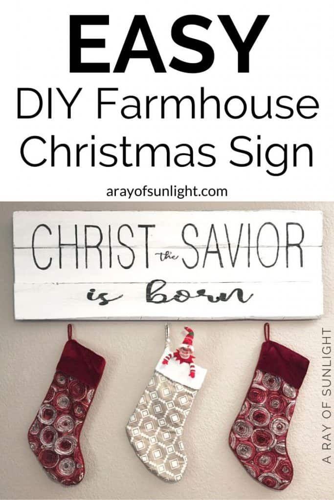 Wood Sign Holiday Decor Christmas Decor Christ The Savior Is Born Sign Christmas Gift Christmas Sign Modern Farmhouse Sign