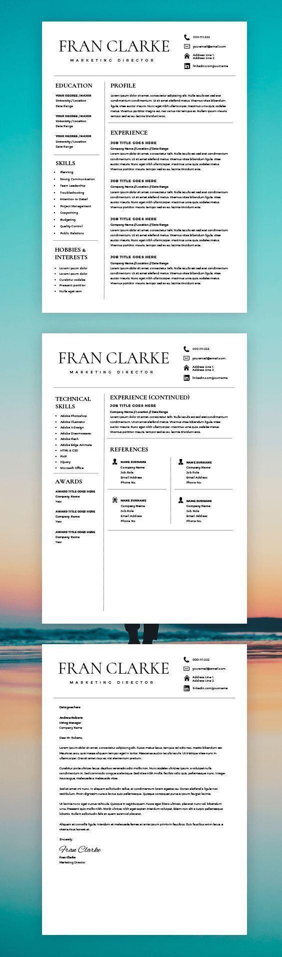 Best Cv  Resume Design Images On   Best Cv