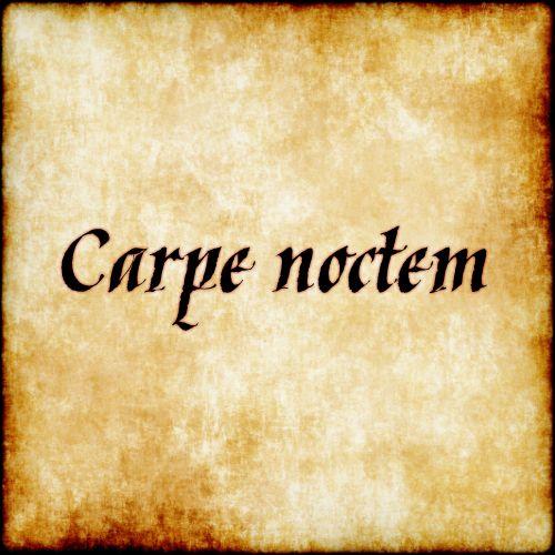 Carpe noctem - Sieze the night. #latin #phrase #quote #quotes - Follow us at facebook.com/LatinQuotesPhrases