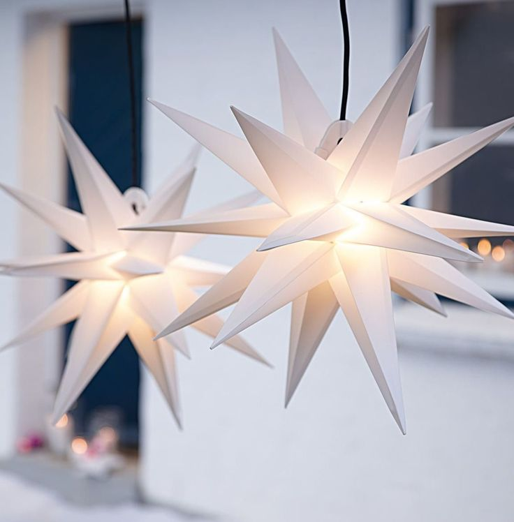 Weihnachtsbeleuchtung, Klassik, Stern, Effektleuchte, Dekoration.