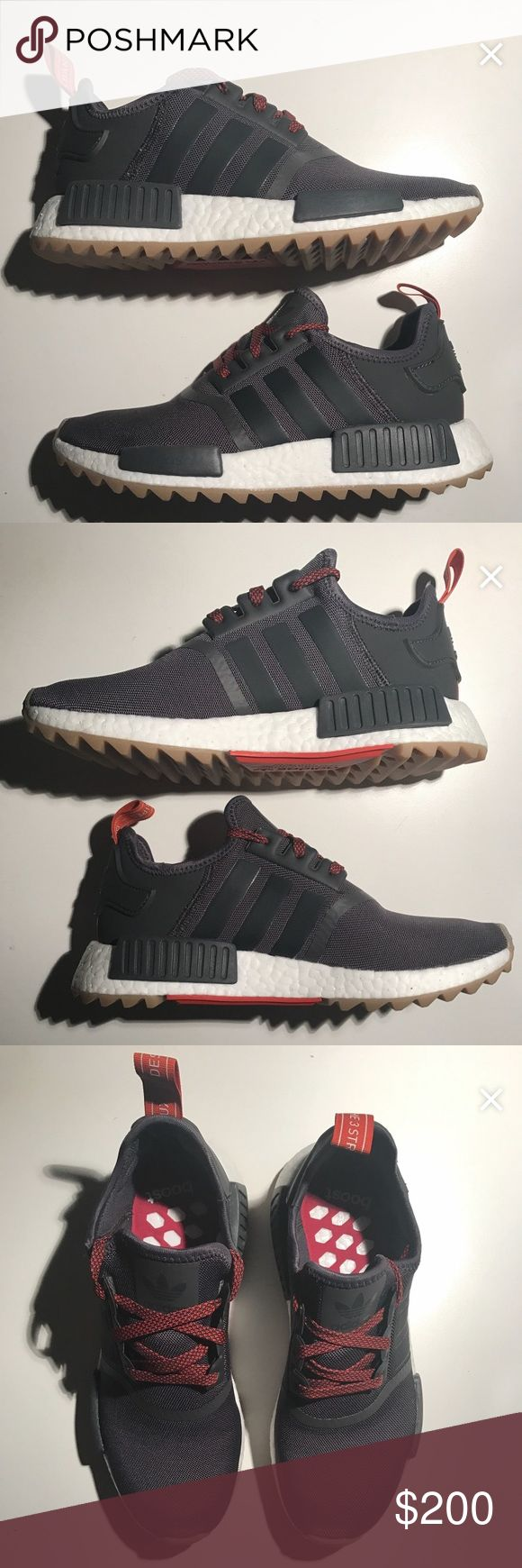WMNS adidas NMD R1 Trail, size 9.5, VNDS Women's adidas NMD R1 Trail, Size 9.5 W. Fits a Mens 8.5. VNDS - Very Near Dead Stock - only worn once. In box, in hand ready to ship. Box in excellent condition. Comes with all original tissue paper/cardboard inserts. 100% Authentic, purchased through adidas website.    BOOST Adidas Shoes Athletic Shoes