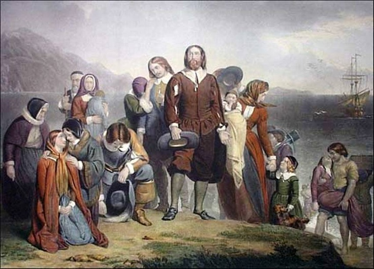 The pilgrims and the mayflower