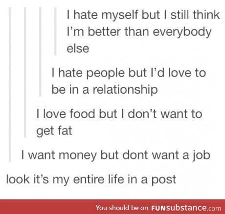 My life in a post