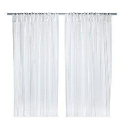 IKEA - TERESIA, Vitragegordijnen, 1 paar, , Vitragegordijnen laten daglicht binnen, maar gaan inkijk tegen. Perfect voor een laag-over-laagoplossing voor je raam.Door de tunnel aan de bovenkant kan je de gordijnen direct aan een gordijnroede hangen.