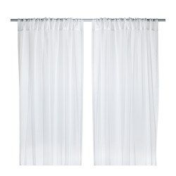 Need to pick some of these up for our bedroom... TERESIA Sheer curtains, 1 pair - IKEA