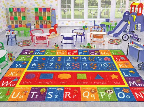 Playroom rug for the kids