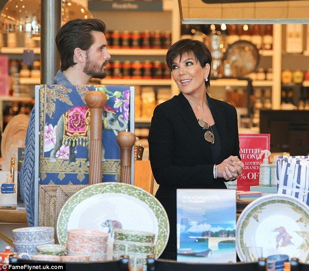 Supportive: Kris and Scott chatted as they filmed an upcoming KUWTK episode
