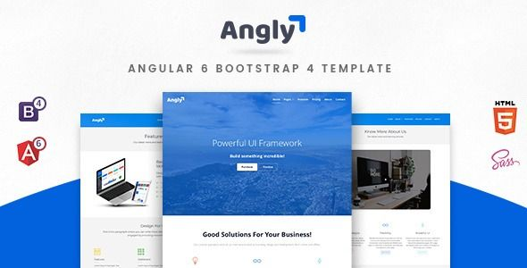 Angly Angular 7 Bootstrap 4 Multipurpose Template Angly Is A