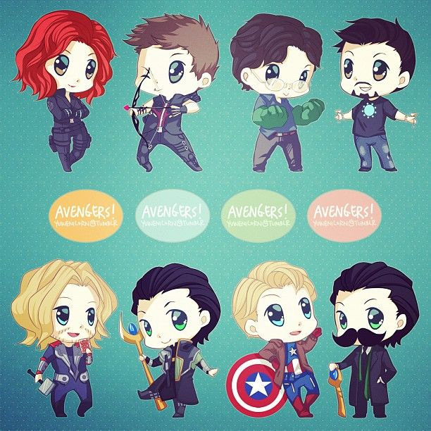 chibi avengers - i will not be ashamed to admit that they are so adorable - STEVE!